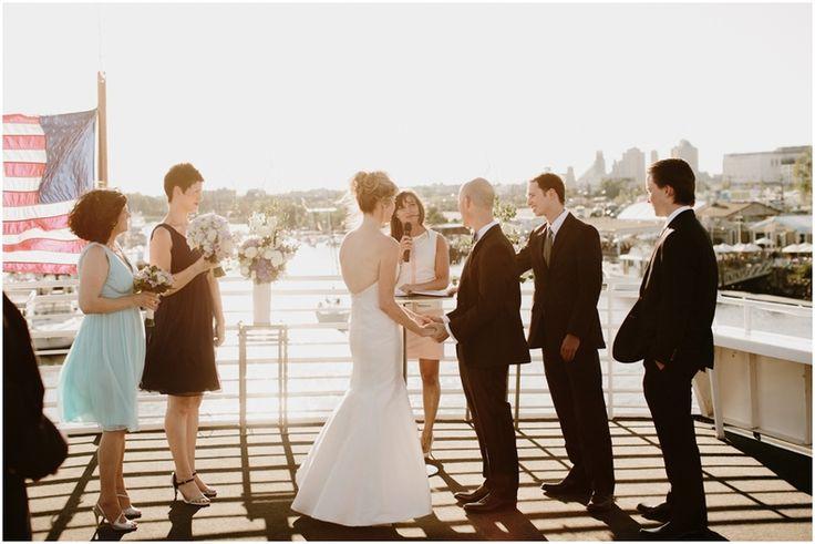 Smooth Sailing Celebrations luxury yacht wedding - photo by Sidney Morgan