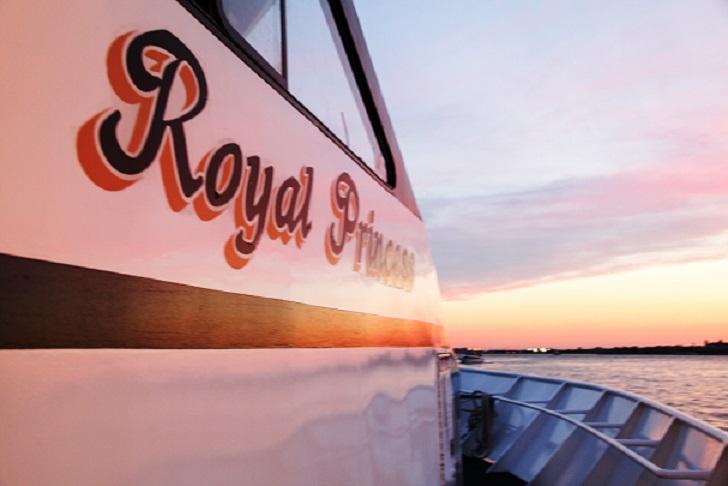 Royal Princess yacht wedding, in Smooth Sailign Celebrations fleet