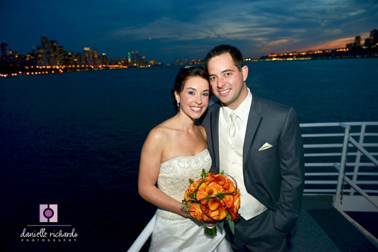 Vienna and Bryan's wedding aboard the Destiny in Smooth Sailing Celebrations luxury wedding yachts fleet. Photo by Danielle Richards Photography